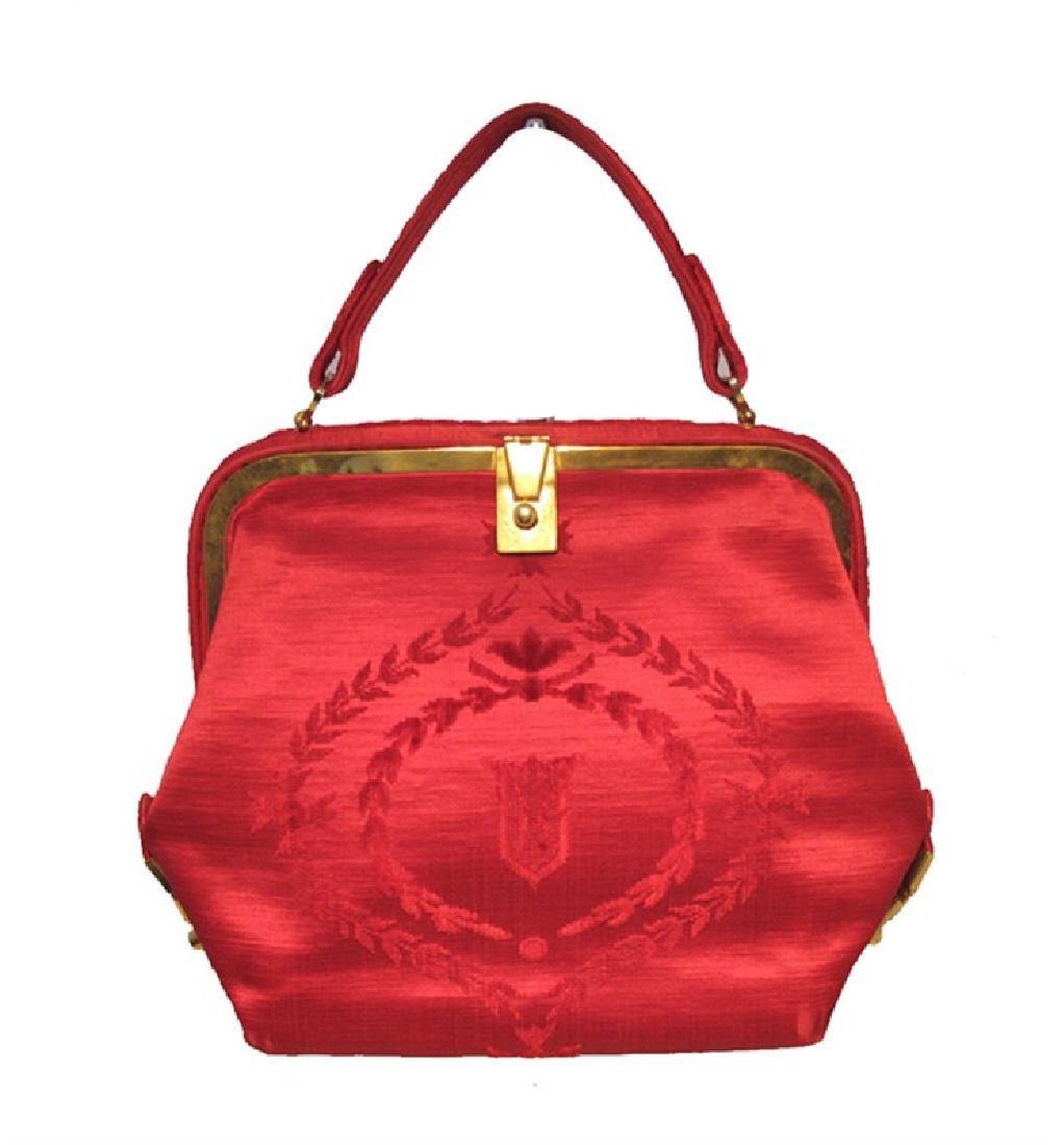 Roberta Di Camerino Vintage Red Tapestry Handbag