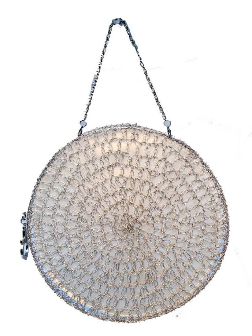Salvatore Ferragamo Silver Wire Woven Cage