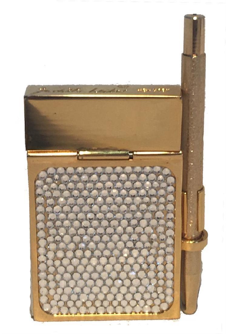 Judith Leiber Vintage Gold and Swarovski Crystal Mini