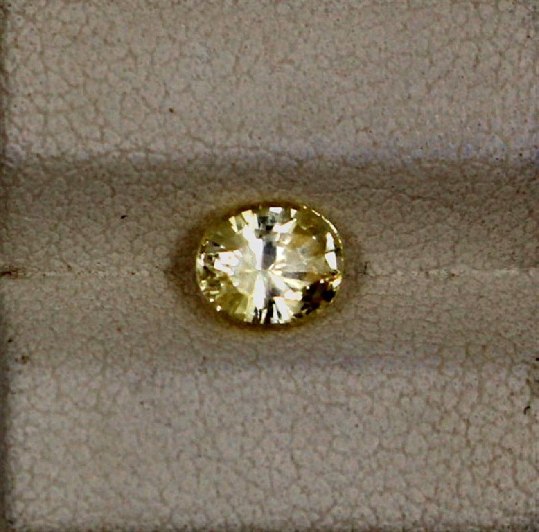 1.13ct Yellow Sapphire Oval Cut