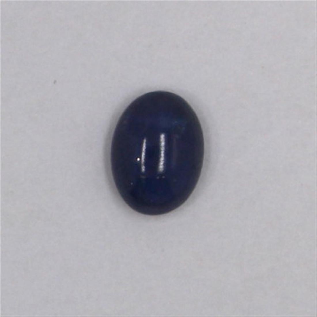 1.68ct Natural ceylon blue Sapphire cabochon oval cut