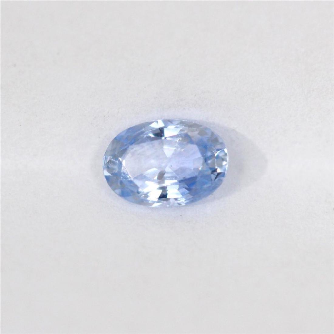 0.74ct Natural ceylon blue Sapphire oval cut