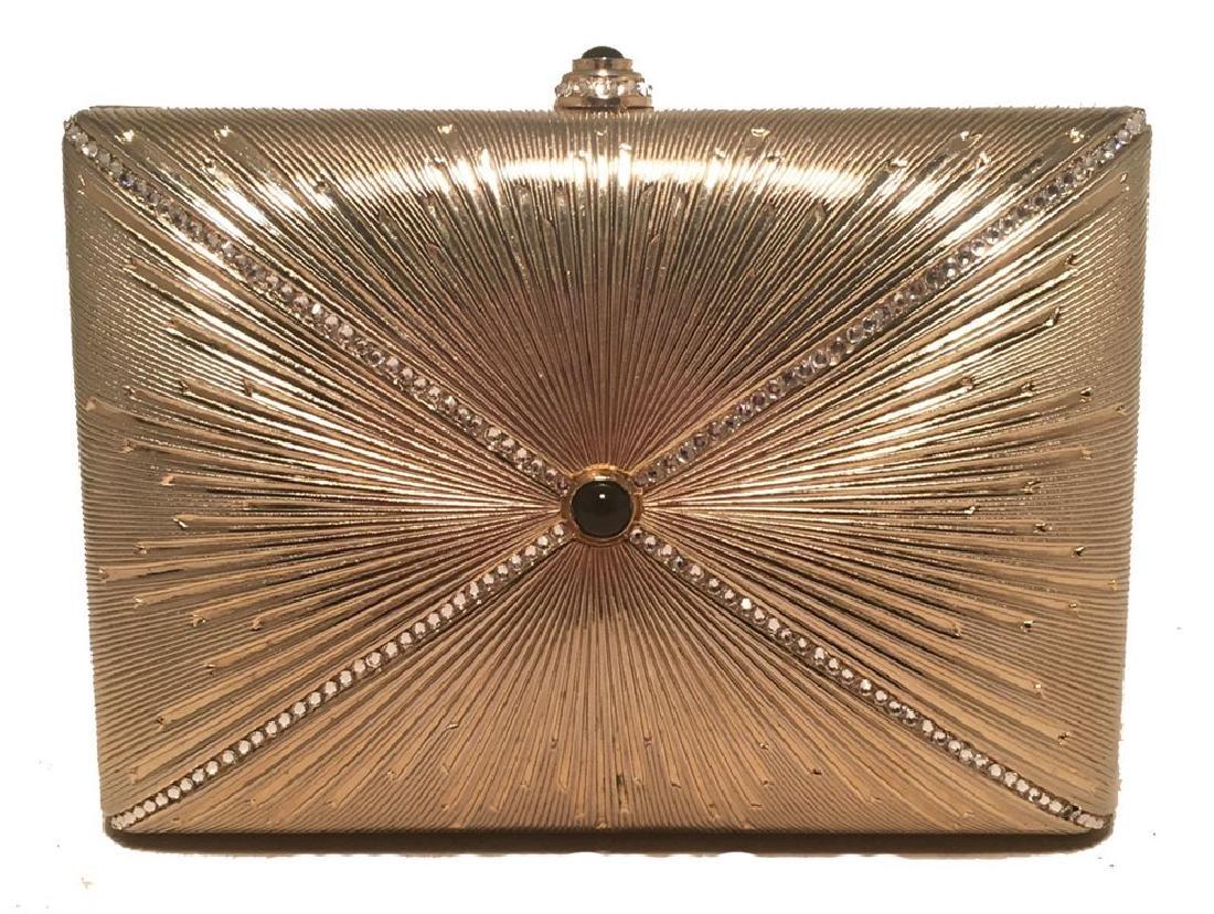 Judith Leiber Vintage Gold Starburst Box Minaudiere