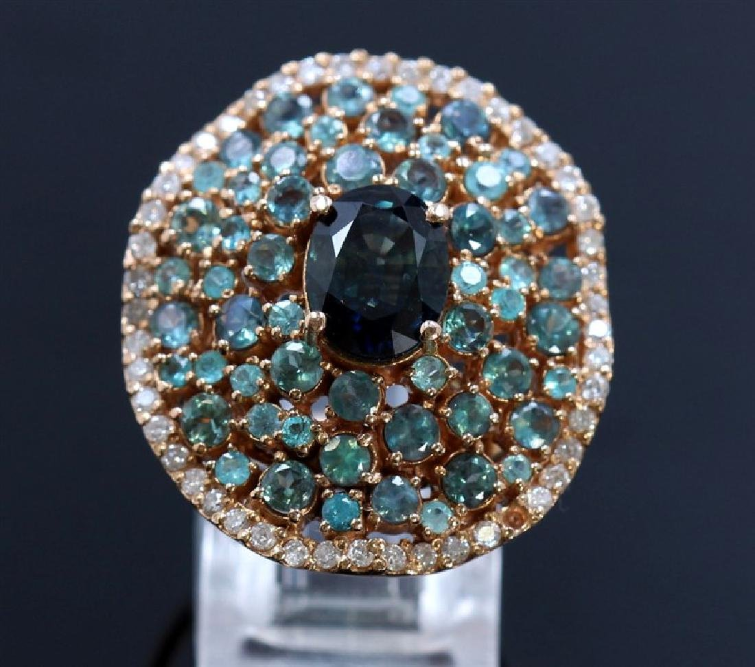 2.55ct green sapphire 18K Rose Gold Ring