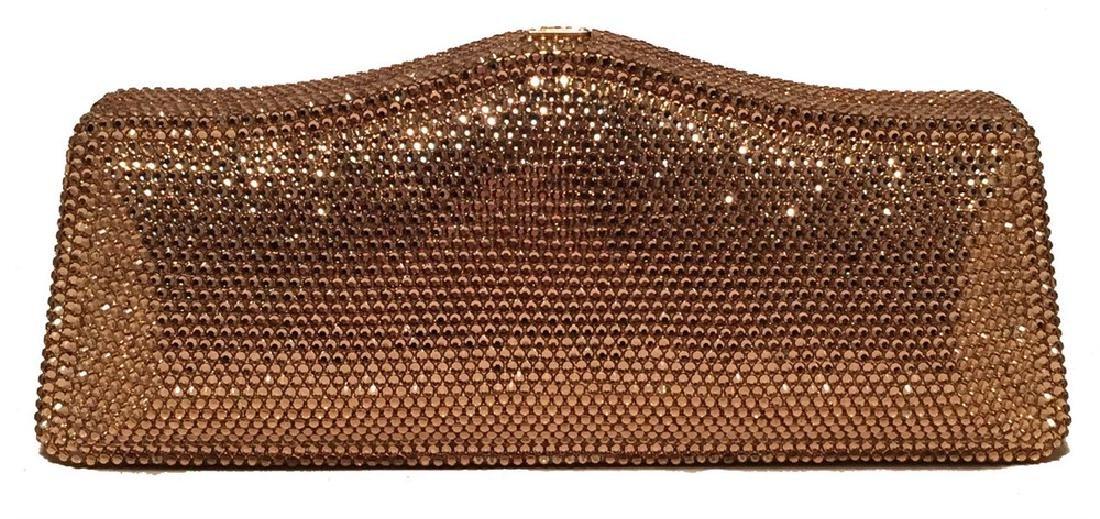 Judith Leiber Gold Swarovski Crystal Evening Bag