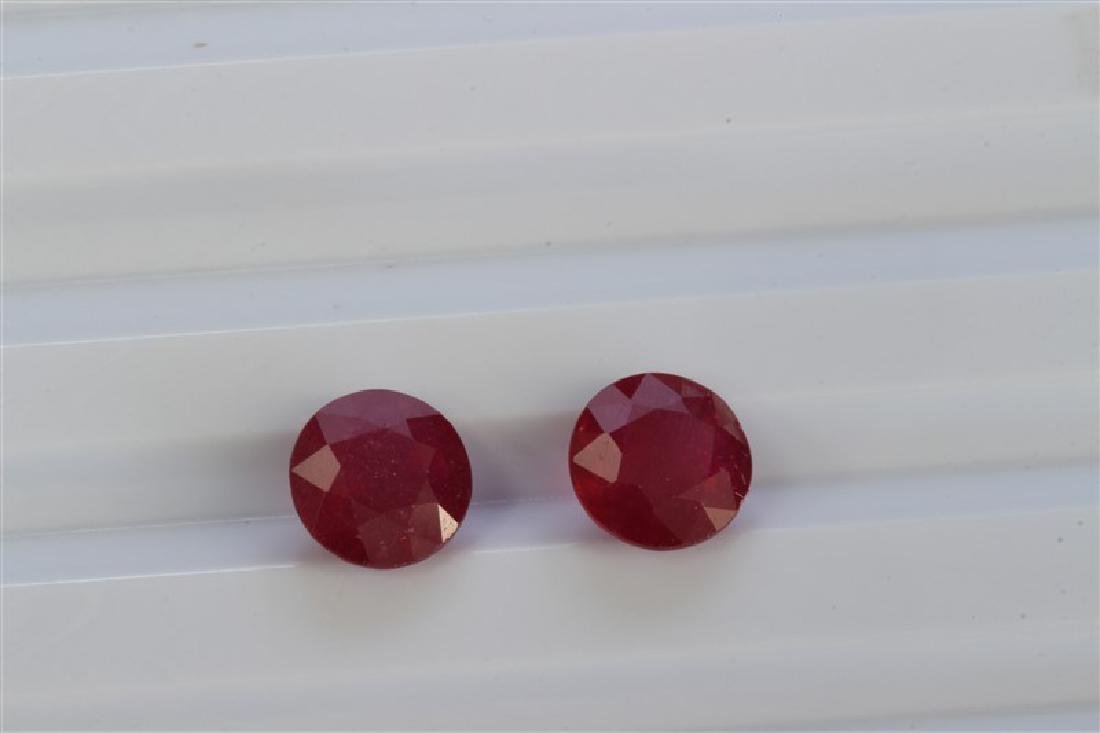5.36ct Round Shape Ruby Pair