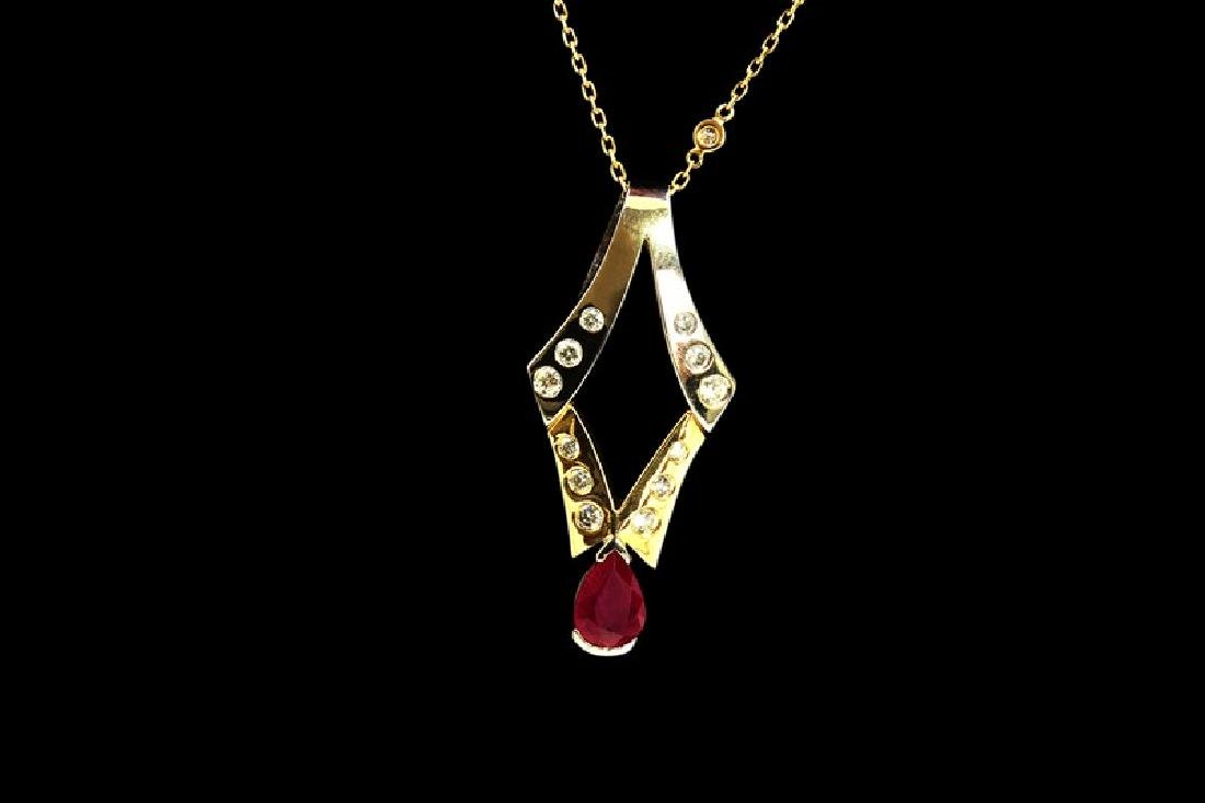 1.64ct Ruby 14K Yellow Gold Pendant