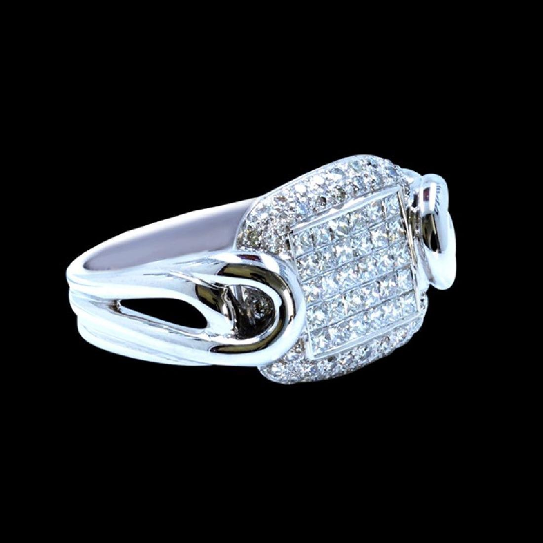 1.26CT NATURAL DIAMOND 14K WHITE GOLD RING