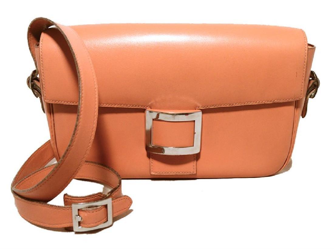 Hermes Vintage Tan Leather Buckle Shoulder Bag