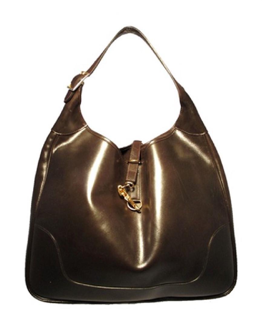 Vintage Hermes Brown Leather Shoulder Bag