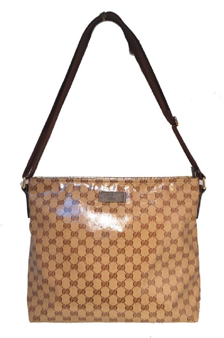 Gucci Monogram Square Unisex Shoulder Bag
