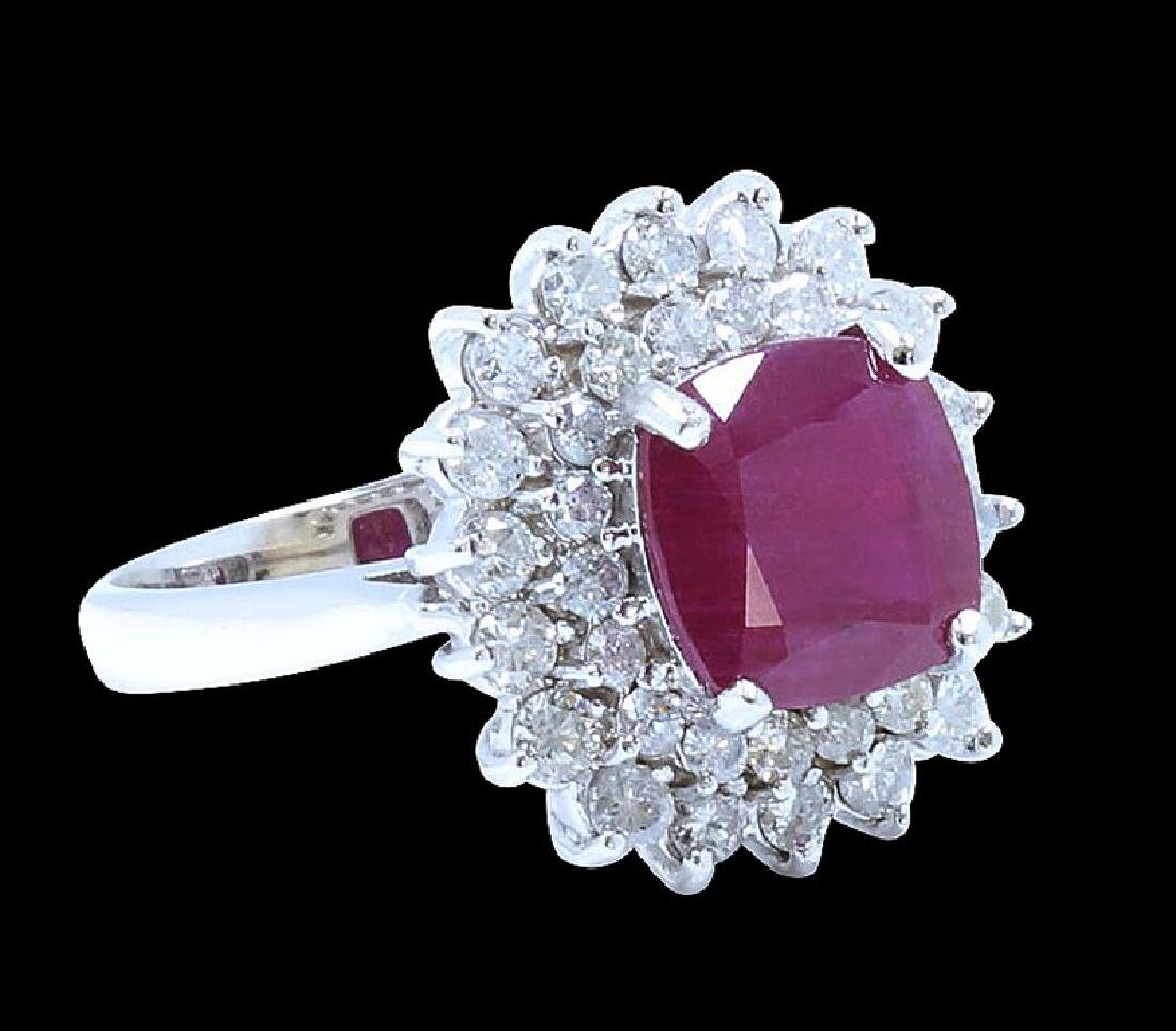 4.31ct Ruby 18K White Gold Ring