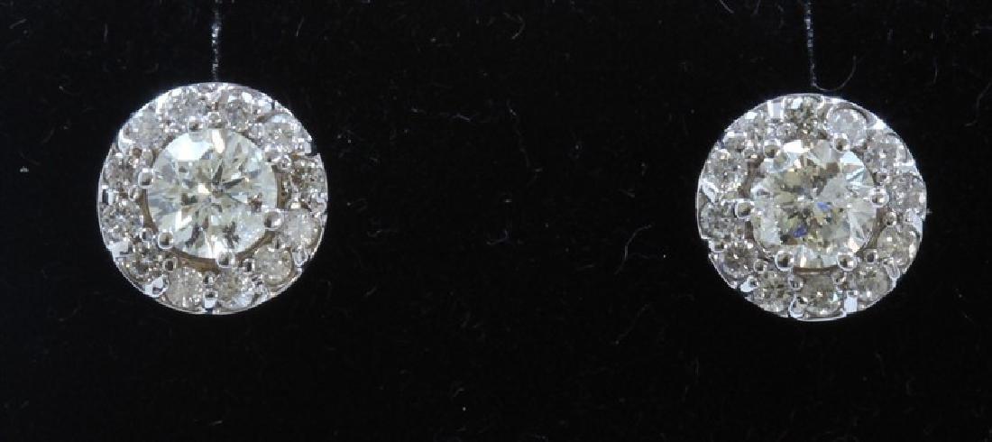 1.49ct Diamond Approx 18K White Gold earring