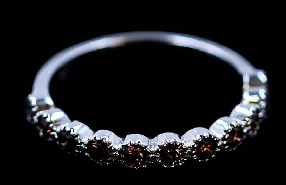 0.48ct Natural Red Diamond 18K White Gold Ring