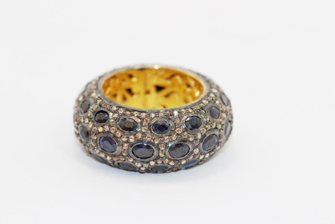 16.17gm Gold Plated / Silver / Blue Sapphire / Diamond