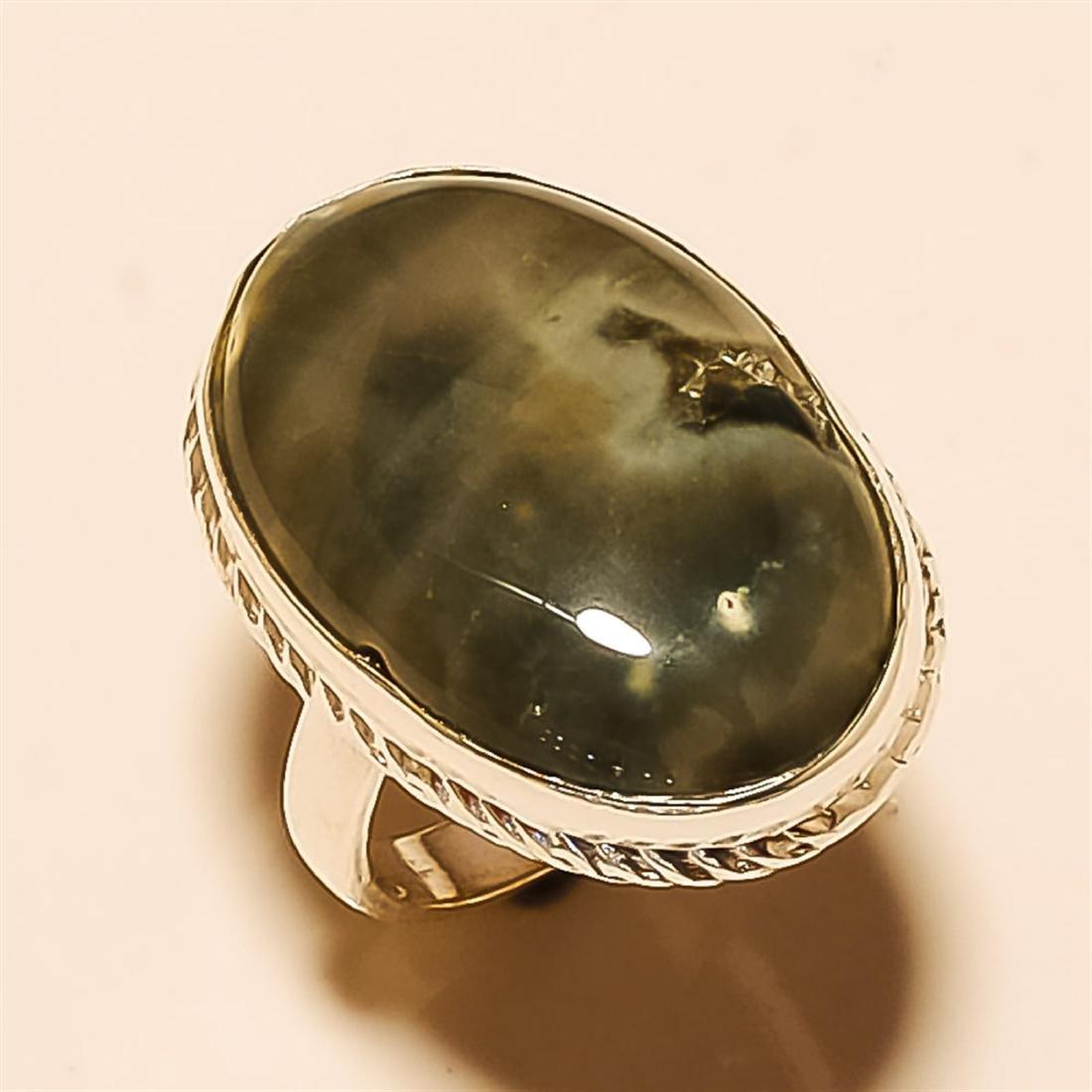 Ocean Jasper RING Solid Sterling Silver