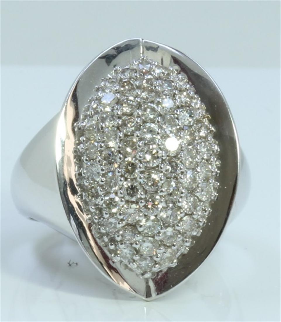 14K WHITE GOLD RING 8.91 GRAM  DIAMOND 1.27CT