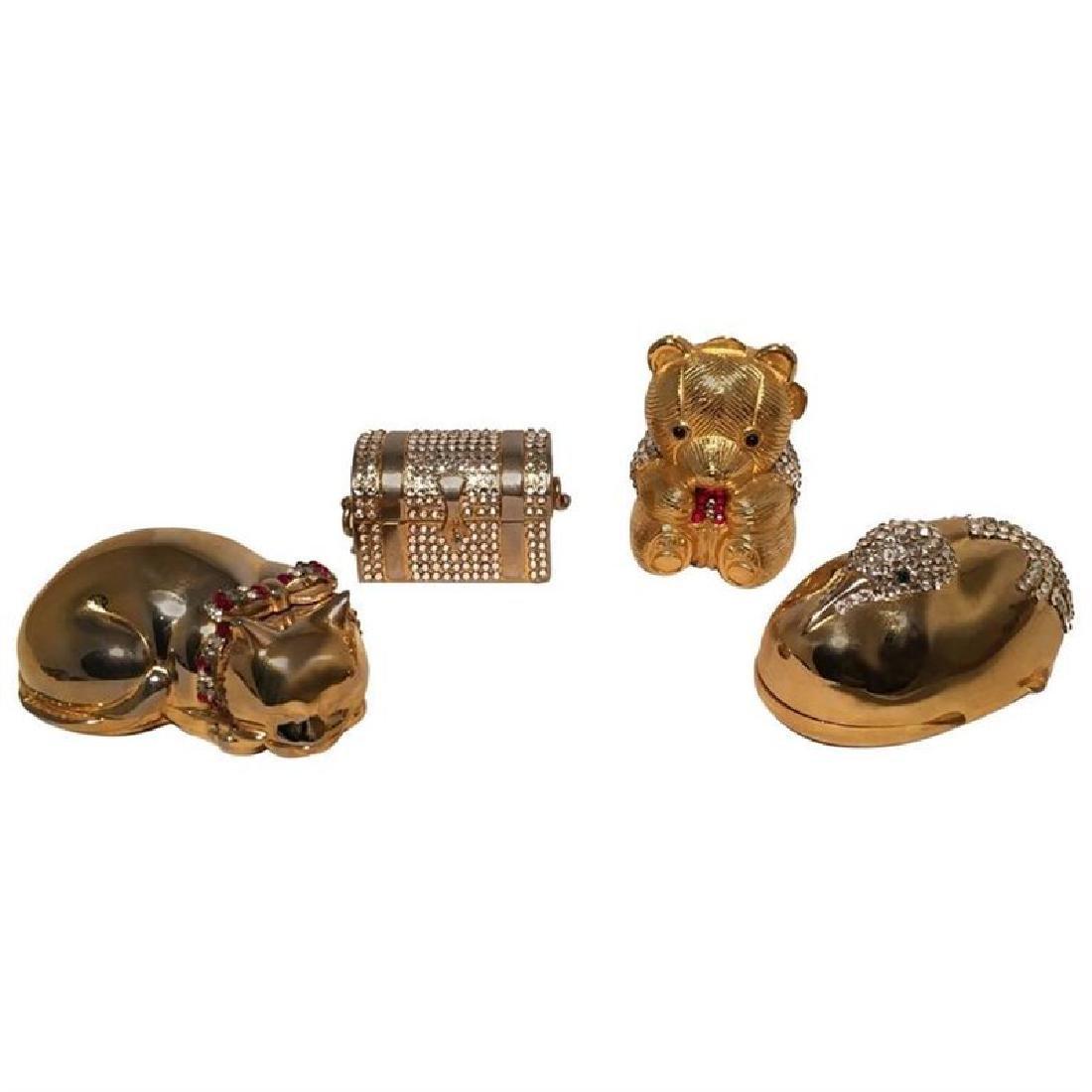 Judith Leiber Swarovski Crystal Minaudiere Pill Box Set