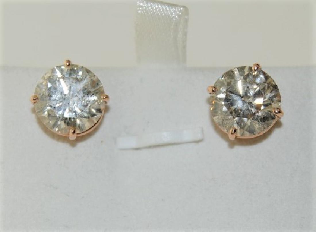 8.40ct Diamond STUD 14K Rose Gold 2.00gm Earring