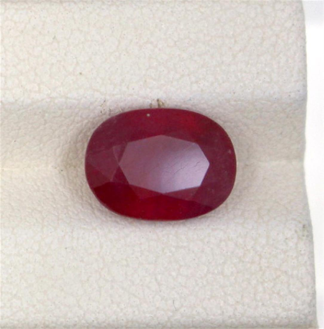 4.8ct  ruby oval cut