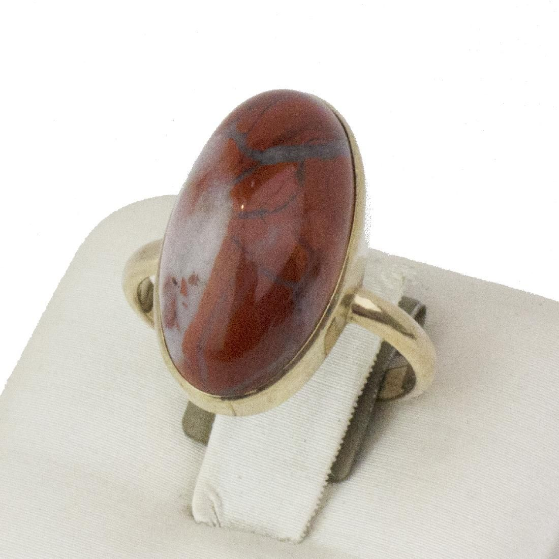 14K Yellow Gold Agate Stone Ring