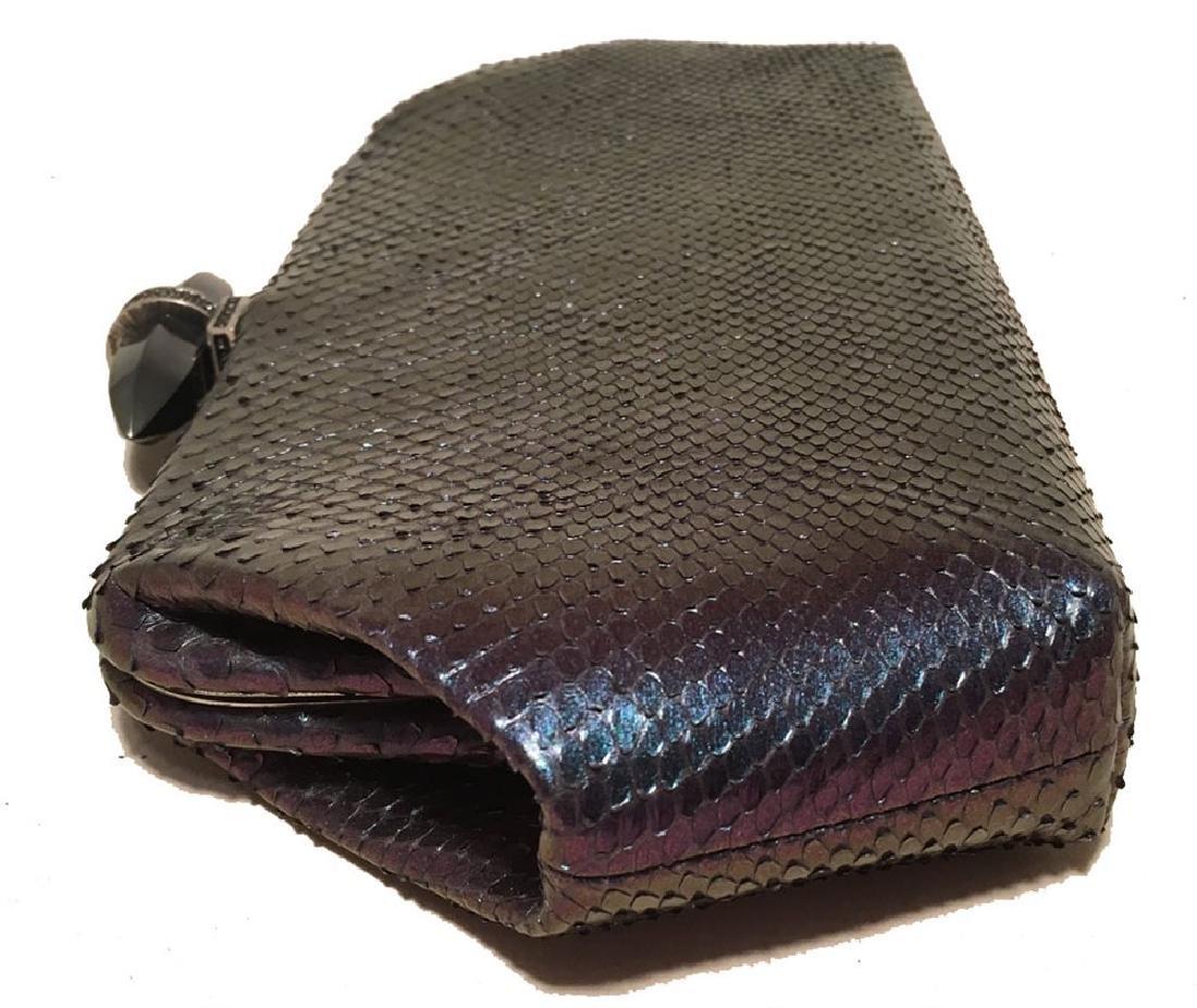 Judith Leiber Purple Blue Snakeskin Python Iridescent - 2