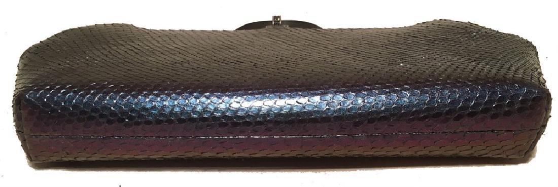 Judith Leiber Purple Blue Snakeskin Python Iridescent - 7