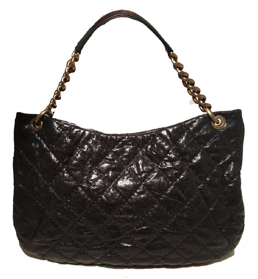 Chanel Black Quilted Caviar Leather Shoulder Bag - 2