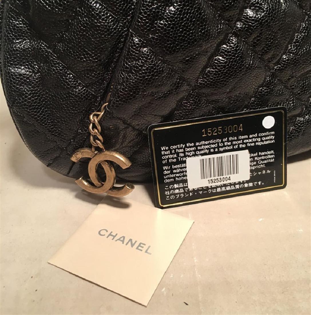 Chanel Black Quilted Caviar Leather Shoulder Bag - 3