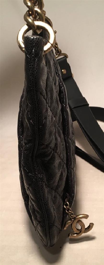 Chanel Black Quilted Caviar Leather Shoulder Bag - 4