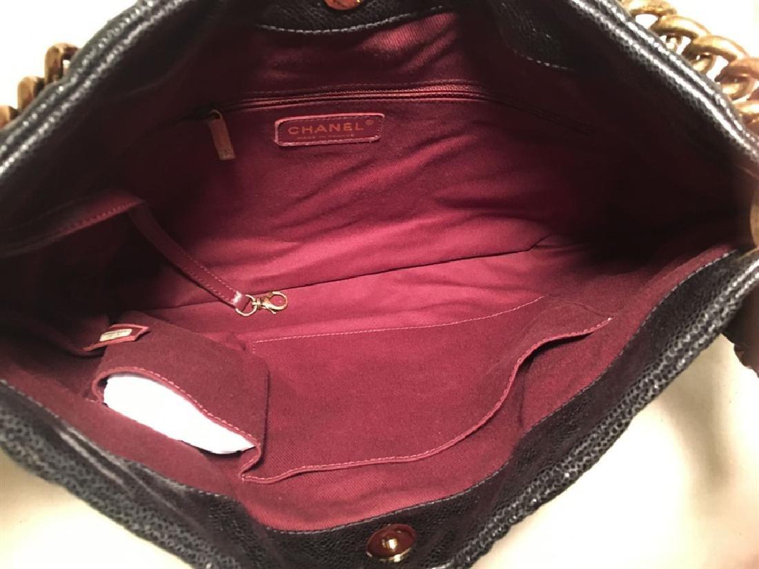 Chanel Black Quilted Caviar Leather Shoulder Bag - 7