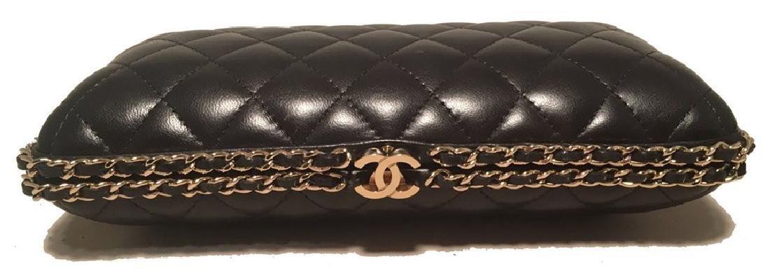 Chanel Black Quilted Lambskin Leather Convertible - 2