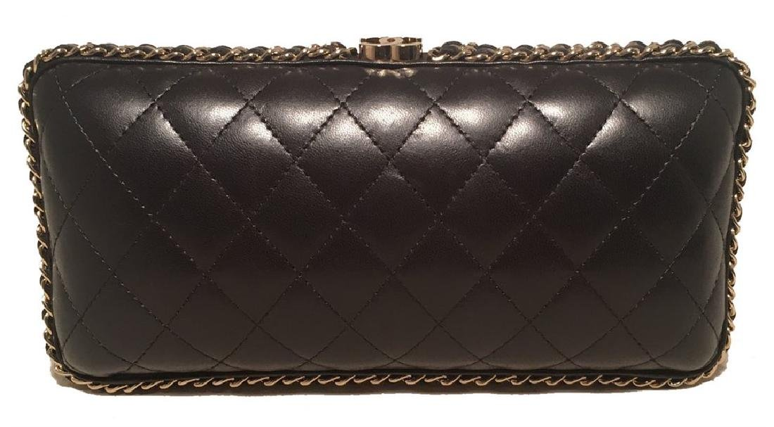 Chanel Black Quilted Lambskin Leather Convertible - 5