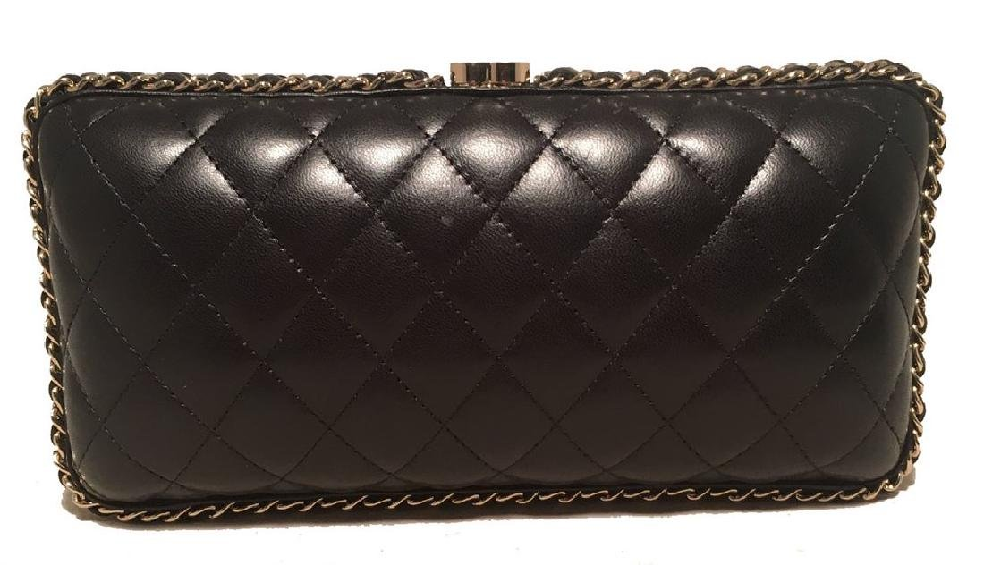Chanel Black Quilted Lambskin Leather Convertible - 7