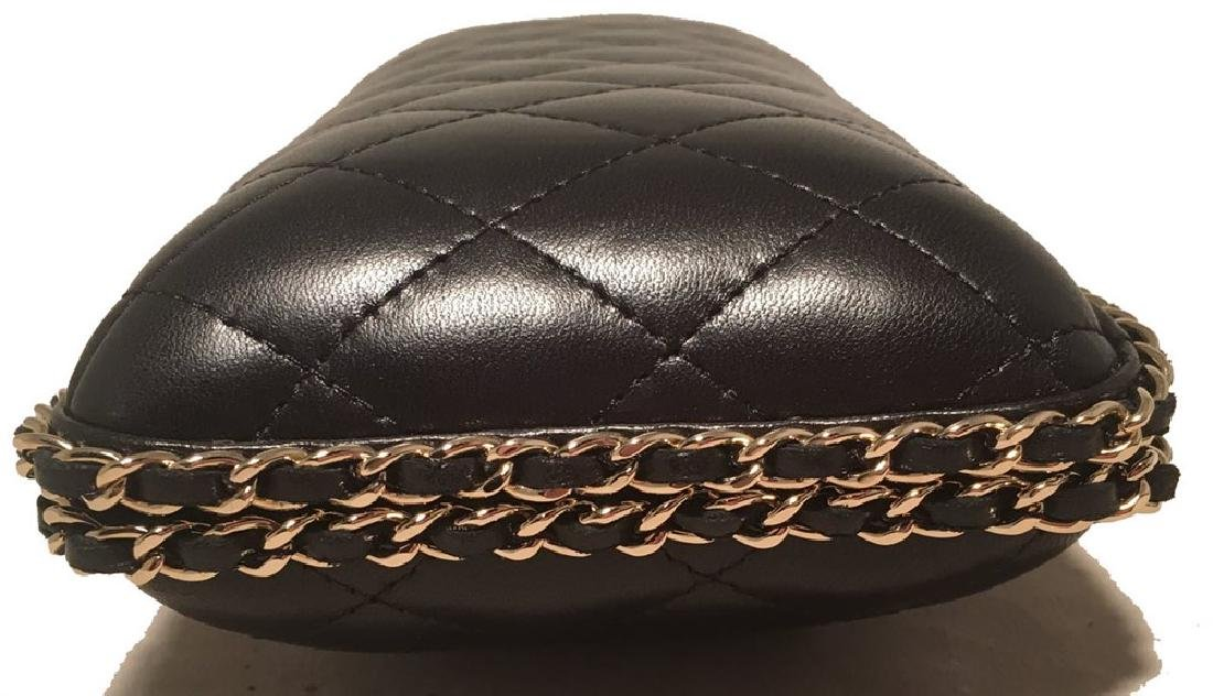 Chanel Black Quilted Lambskin Leather Convertible - 8