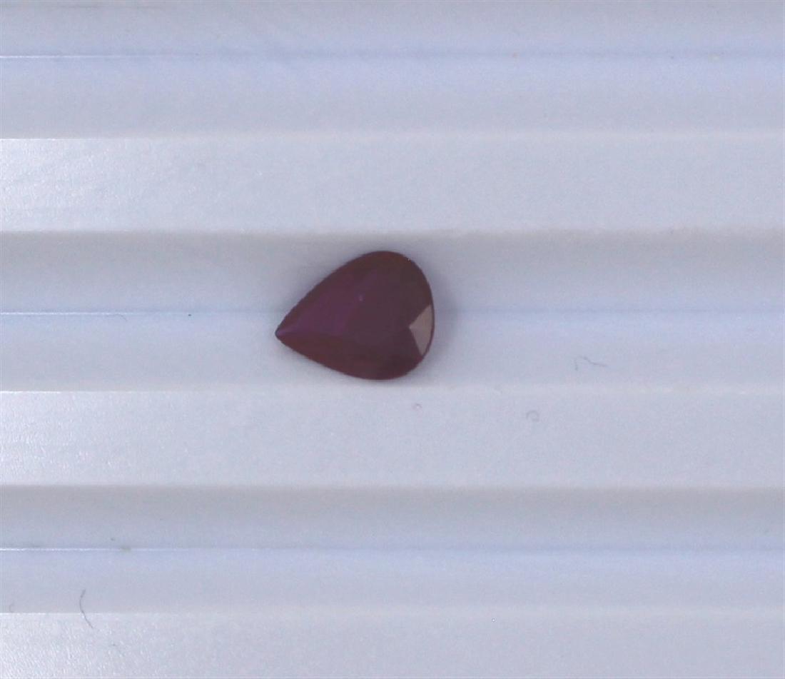 1.02ct Ruby Pear cut