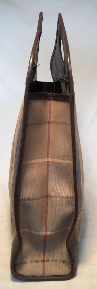 Burberry Vintage Brown Plaid Tote - 2
