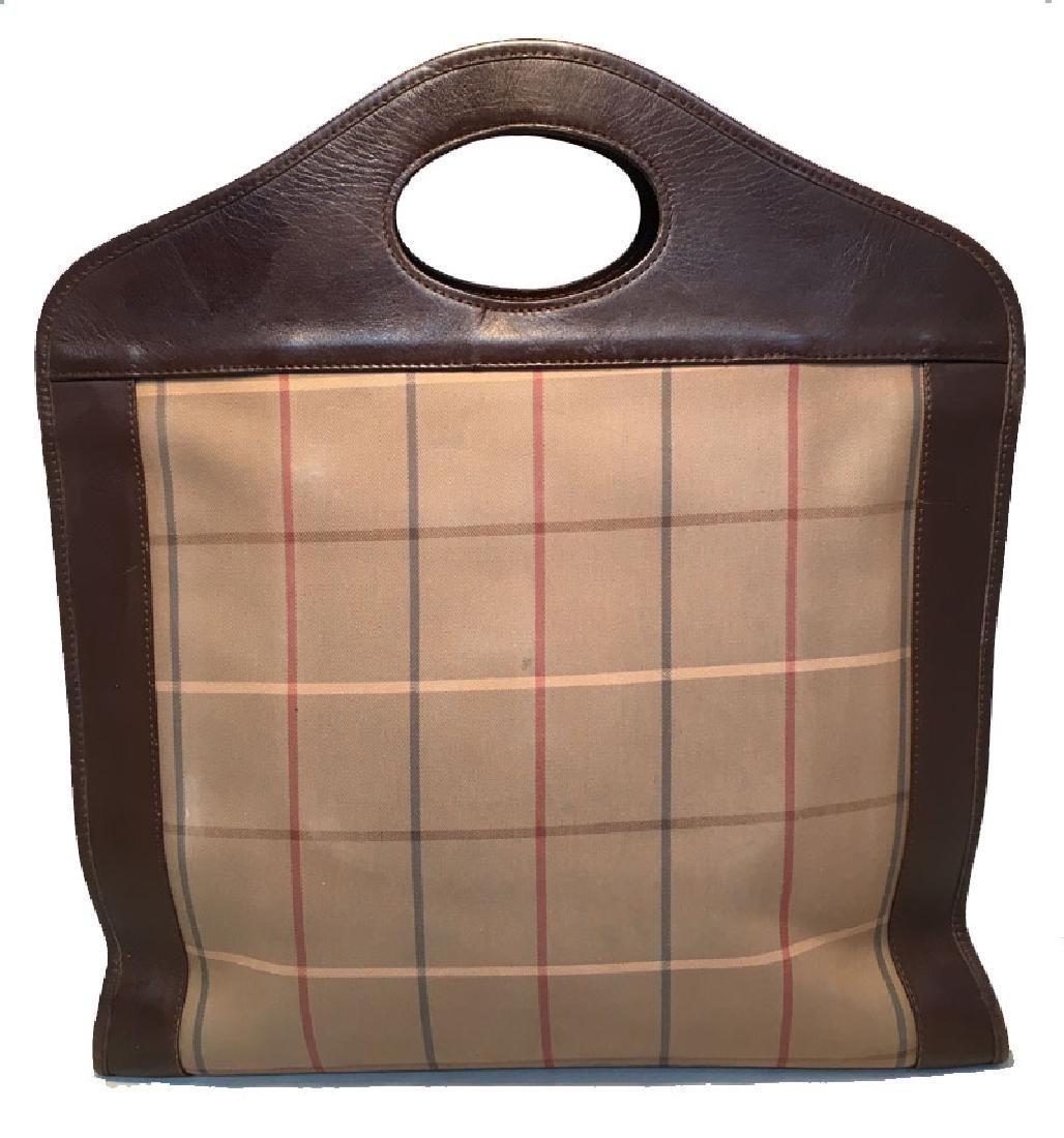 Burberry Vintage Brown Plaid Tote - 3