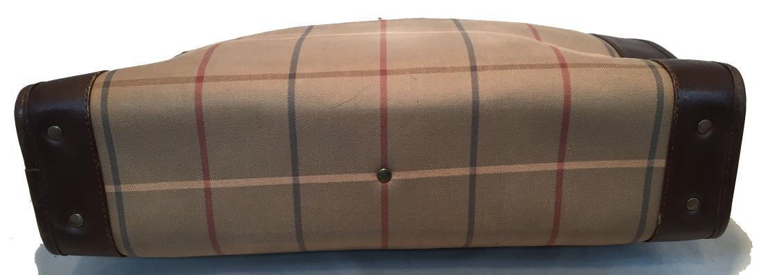 Burberry Vintage Brown Plaid Tote - 4