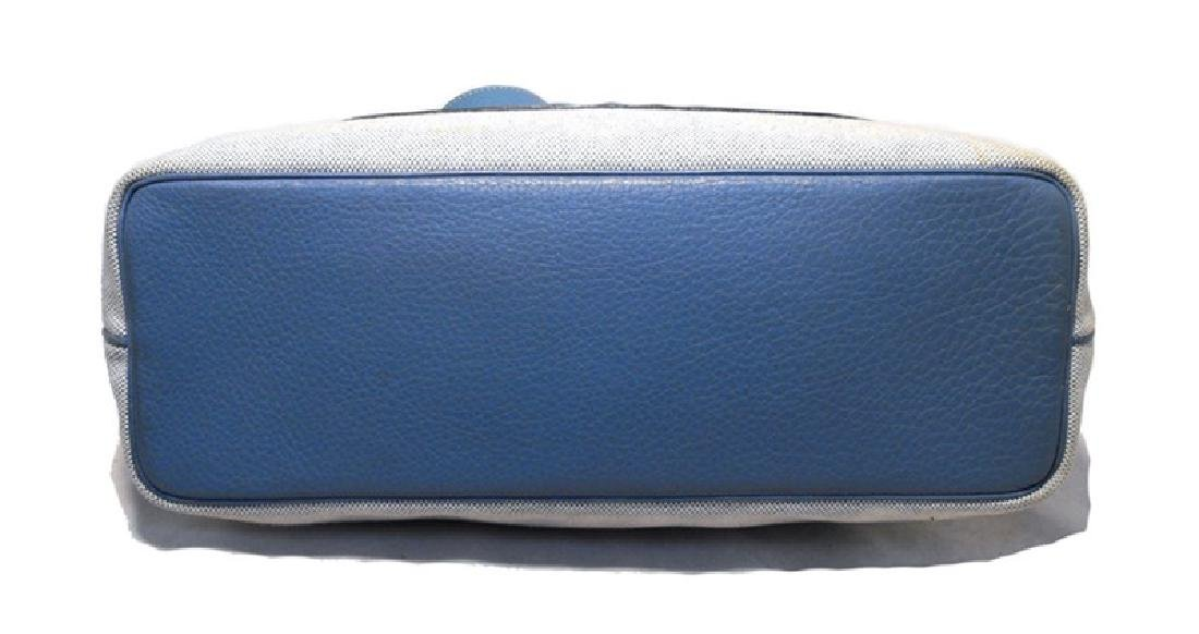 Hermes Canvas Toile and Blue Clemence Leather Shoulder - 4