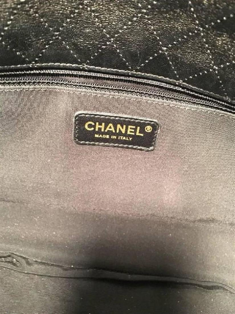 Chanel Black Pleated Leather Classic Flap Shoulder Bag - 7
