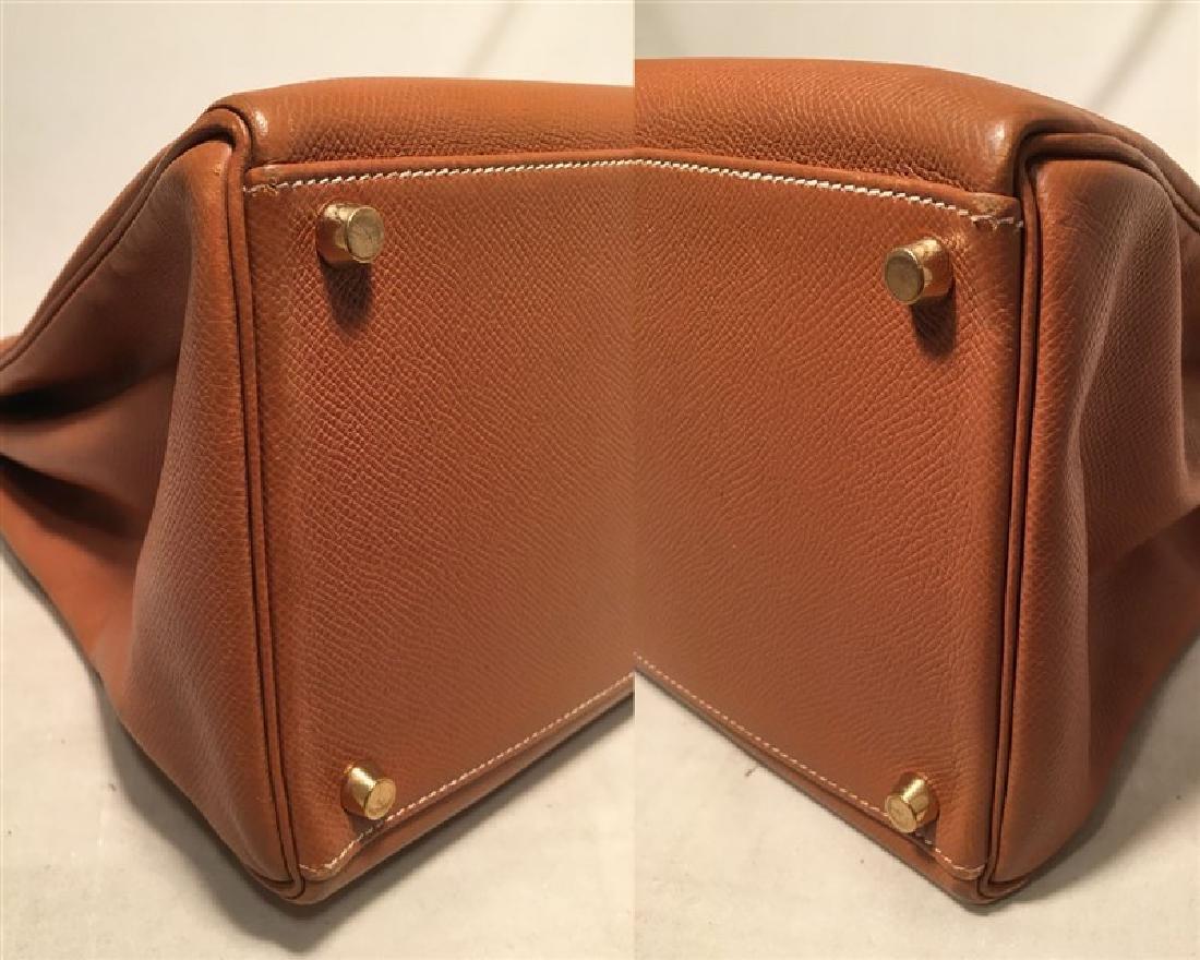 Hermes Tan Veau Graine 40 cm Kelly Bag with Strap - 5
