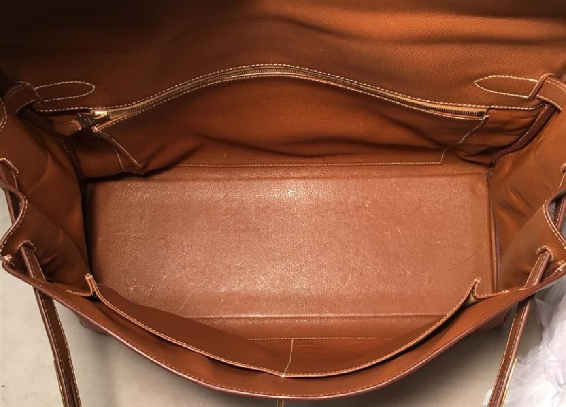 Hermes Tan Veau Graine 40 cm Kelly Bag with Strap - 8