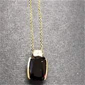 14 ky rhodolite garnet & dia necklace