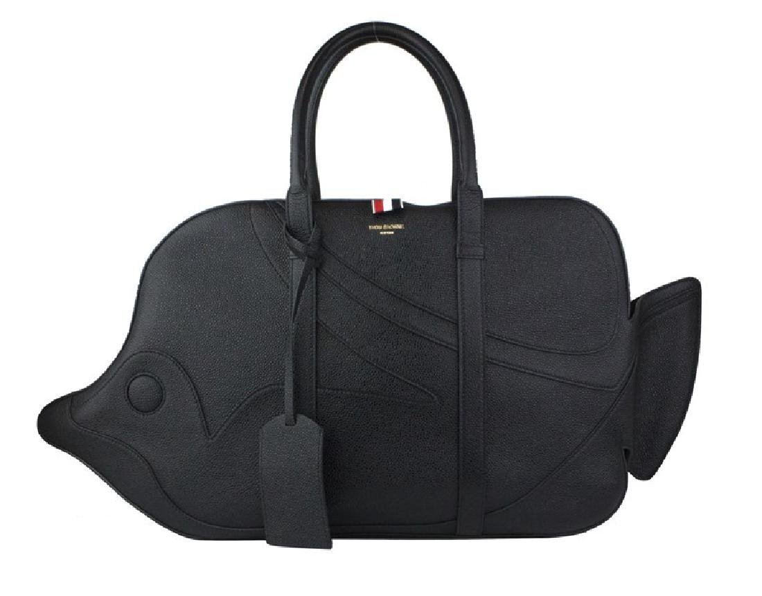 THOM BROWNE Pebble Grain Trigger Reef Fish Bag