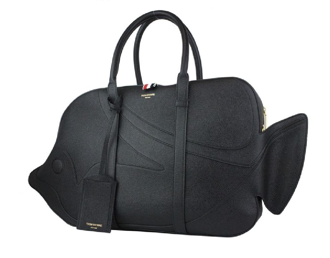THOM BROWNE Pebble Grain Trigger Reef Fish Bag - 2