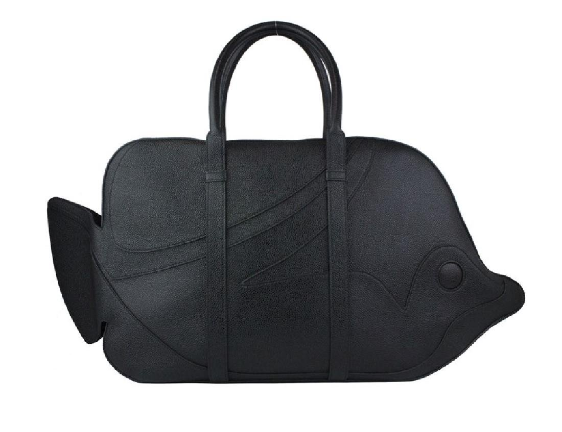 THOM BROWNE Pebble Grain Trigger Reef Fish Bag - 4
