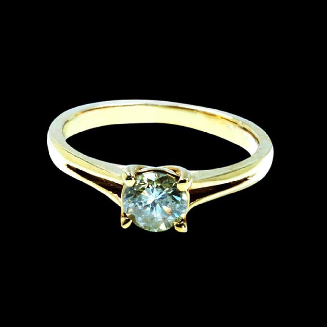 0.48CT NATURAL DIAMOND 14K YELLOW GOLD RING