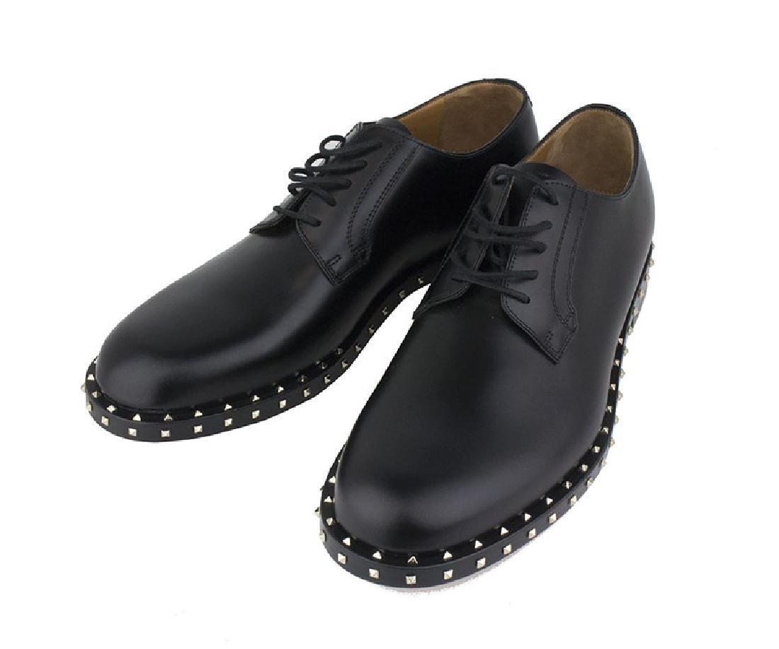 VALENTINO Garavani Black Rockstud Derby Shoes