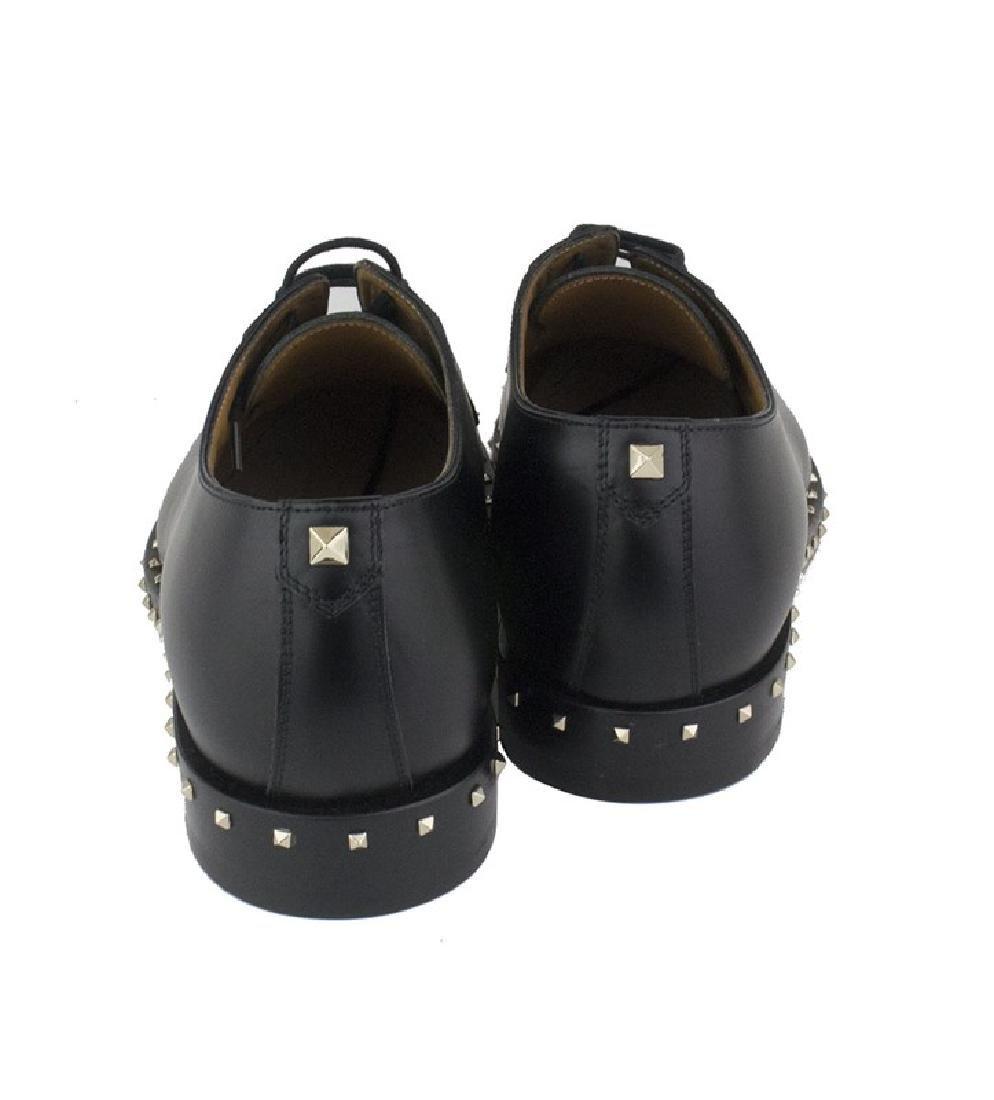 VALENTINO Garavani Black Rockstud Derby Shoes - 2